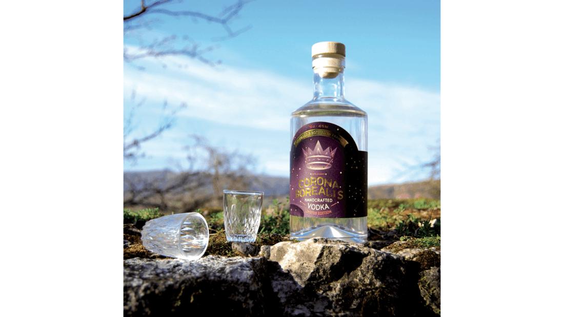 vodka : corona gorealis de la distillerie HEIMA